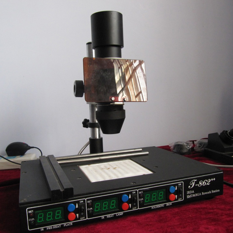 In Stock Puhui Smt Bga Ir Rework Station T-862+ Infrared Smt Smd Irda Bga Welder T 862 Updated Model Irda Welder Oven T862+