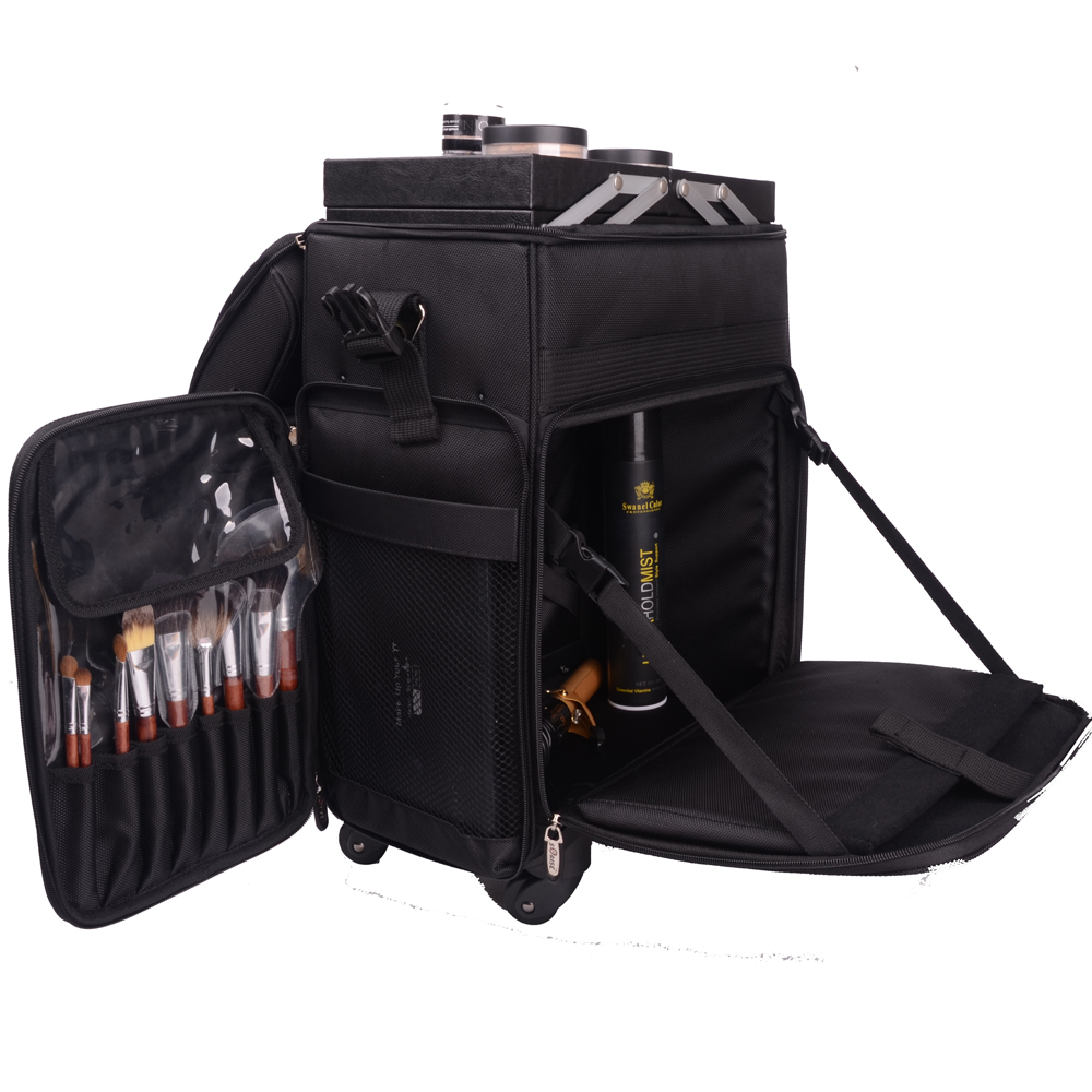 769889e89a76 US $224.7 |2016 New Type large professional portable canvas beauty case  trolley caster makeup nail Bag Beauty Cosmetic Box Trolley-in Cosmetic Bags  & ...
