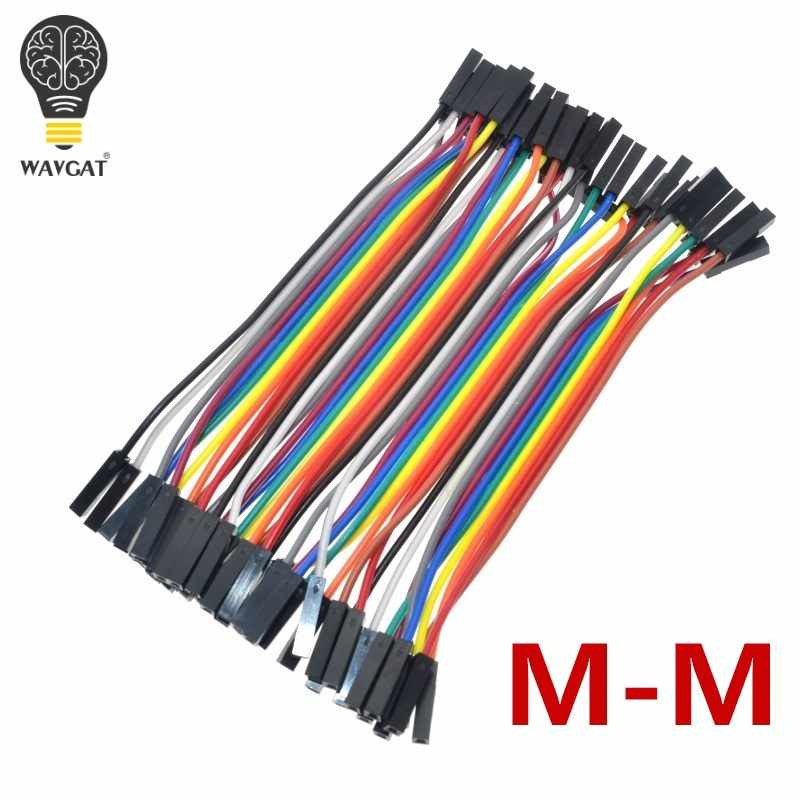 WAVGAT 40PCS Dupont 10CM Female To Female (F-F) Jumper Wire Ribbon Cable for Arduino
