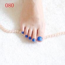 Beautiful female fashion short paragraph round toe candy fake  blue #080