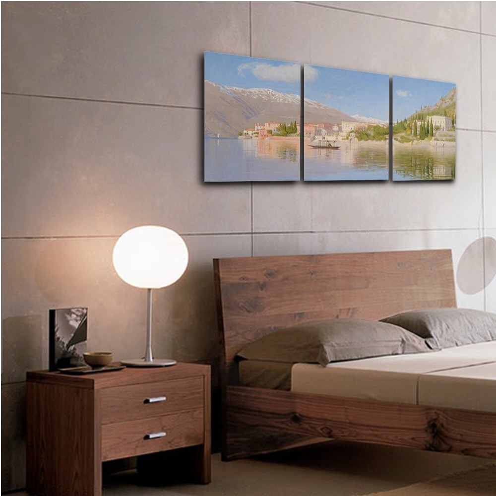 3 Panel Modern Spring Natural Wall Art Posters and Prints Canvas Painting Living Room Wedding Home Decoration in Painting Calligraphy from Home Garden