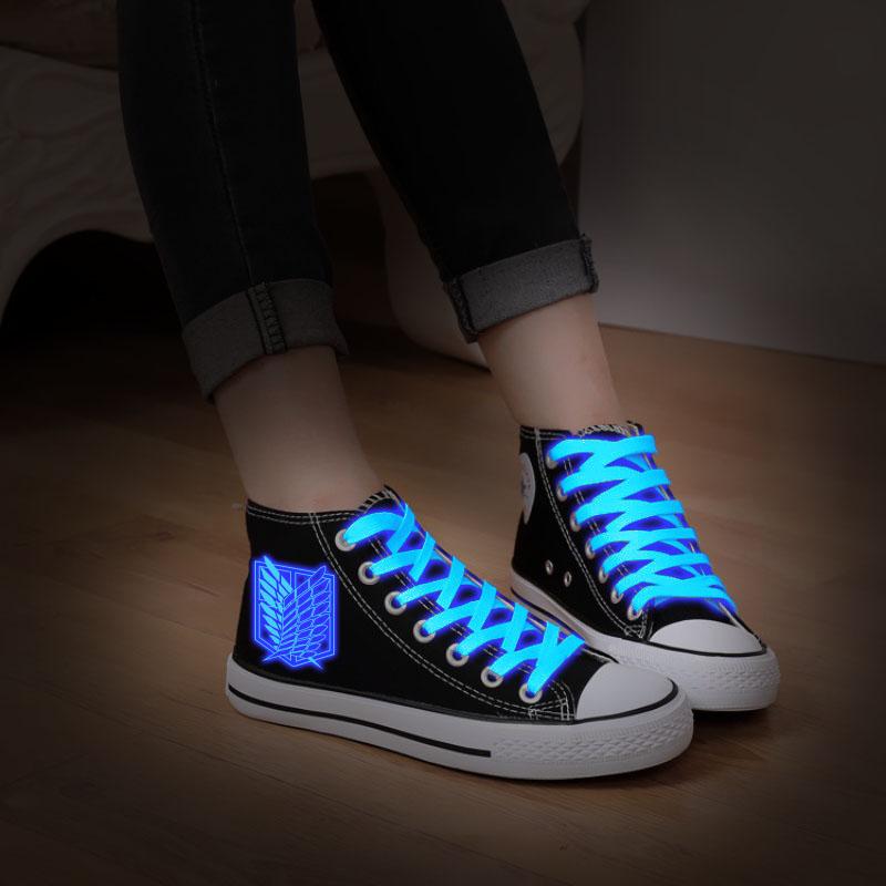 Cosworld Attack On Titan Cosplay Shoes High Platform Canvas Shingeki No Kyojin Shoes Board Luminous Shoes (4)