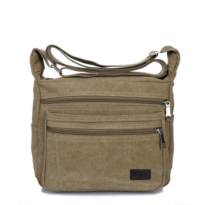 2017 New Vintage Men's Messenger Bags Canvas Shoulder Bag Fashion Male Business Crossbody Bag Travel Student School Bag Boy