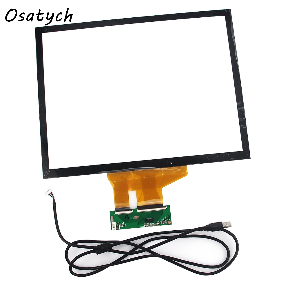 15 inch 4:3 Projected Capacitive Touch Screen Panel 10 Points+USB Controller Win 7,8 USB for Industrial Touch Screen Monitor amt9518 10 4 inch