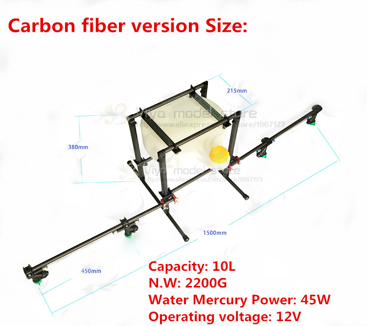 Pesticide spraying system 10KG sprayer Spray gimbal for DIY UAV Agricultural multi-rotor drones Carbon fiber / aluminum alloy new product fy dos m autopilot system for rc uav multi rotors