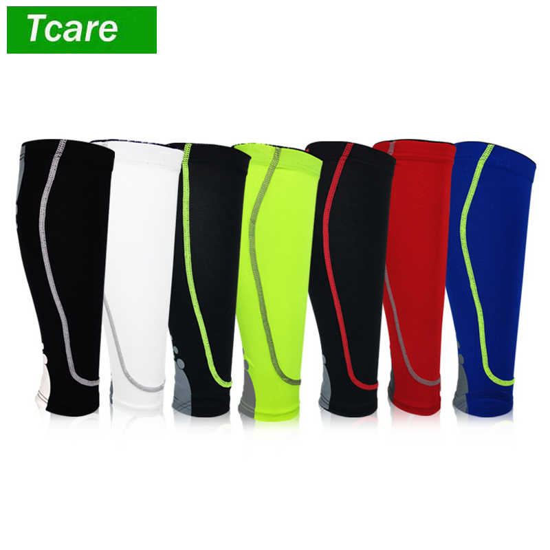 b72e8f6478 ... 1Pcs Calf Compression Sleeve Shin Splint Leg Compression Socks for Men  & Women Running Cycling Support