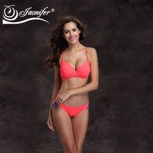 23ef2f5cf Jaonifer mujeres bikini 2018 push up traje de baño de las mujeres taza  grande bañadores Halter Top bottom brasileño Bikinis Nata.