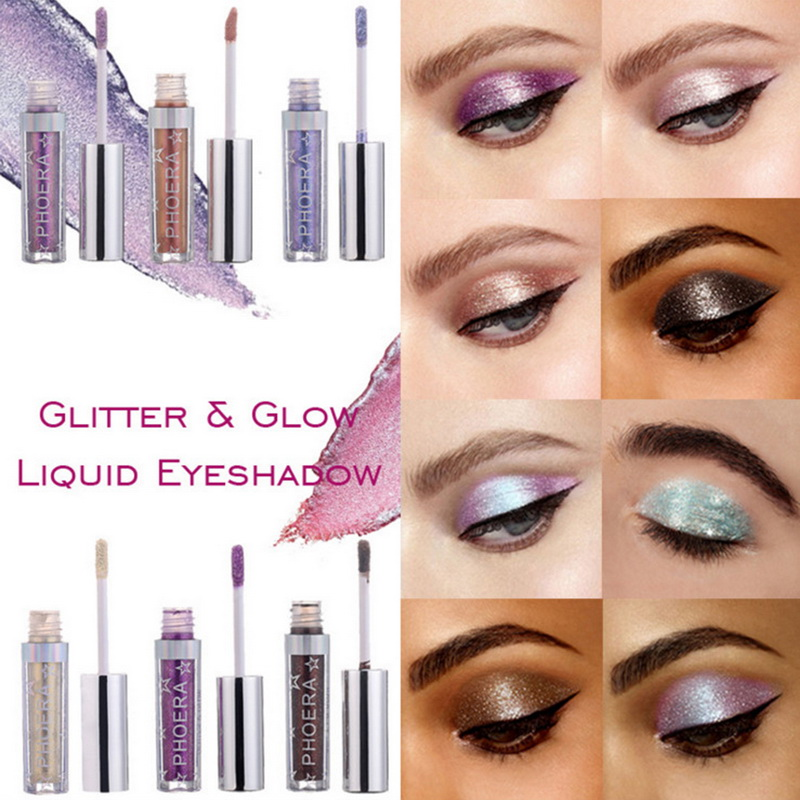 Eye Shadow Phoera Long Lasting Easywear Eye Shadow Glitter Waterproof Maquiagem Shimmer Eyes Cosmetics Eyeshadow Makeup Fluorescence Beauty