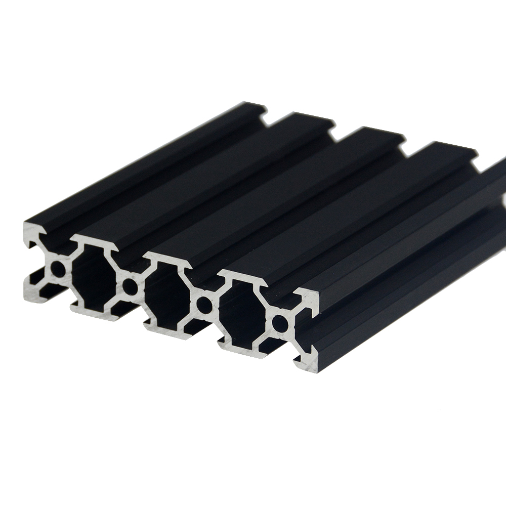 1PC BLACK 2080 V-Slot European Standard Anodized  Aluminum Profile Extrusion 100-800mm Length Linear Rail For CNC 3D Printer