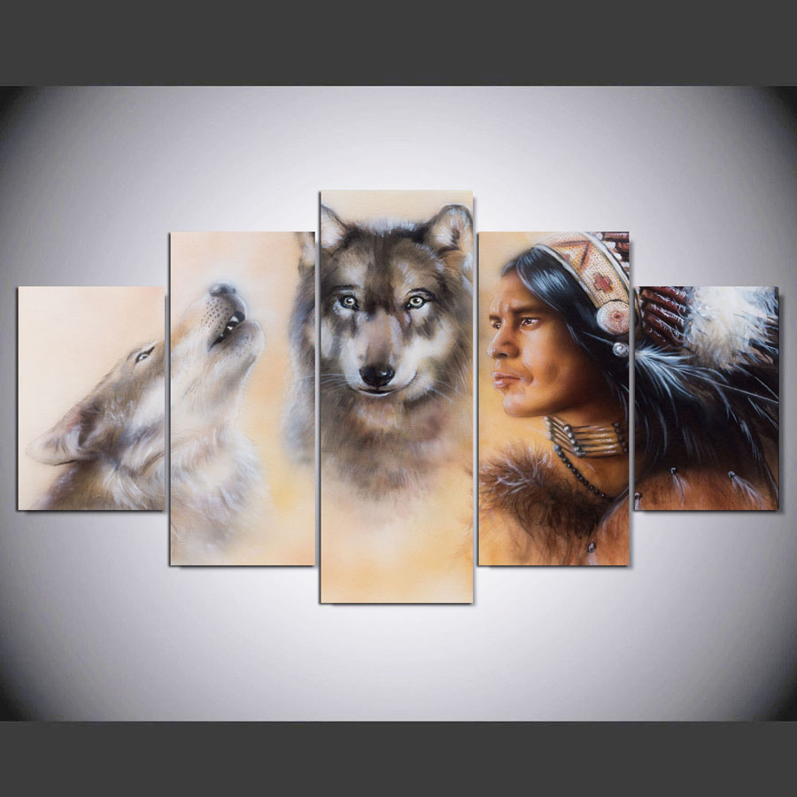 Wolf Wall Art popular wolf wall art canvas-buy cheap wolf wall art canvas lots