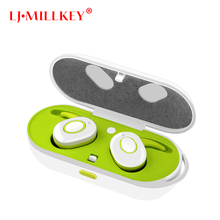 Waterproof True Sport Wireless Earbuds TWS Mini Bluetooth Earphone Earpiece with Power Storage Box LJ-MILLKEY YZ111