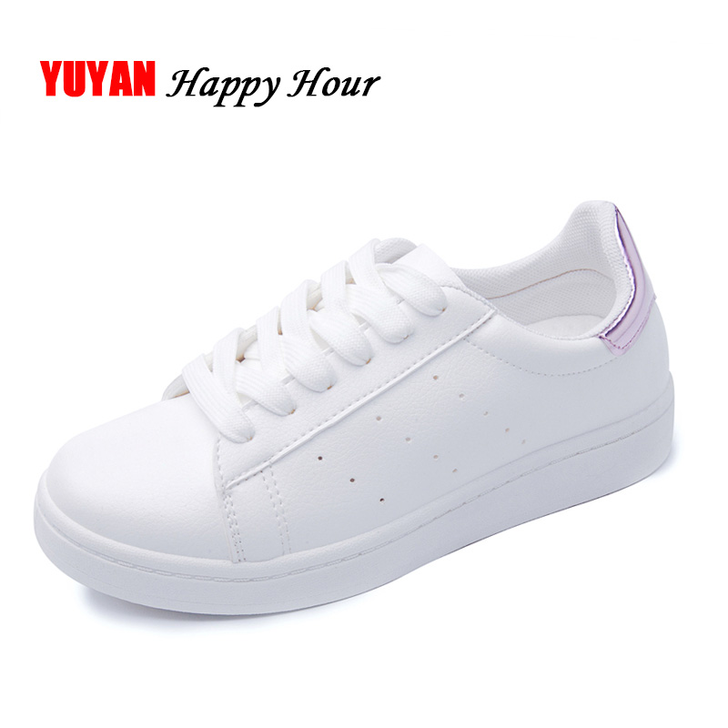 New 2018 Spring Summer Shoes Women Flats Soft Leather Fashion Women's Casual Brand White Shoes Breathable Comfortable ZH1775 donic baracuda page 6