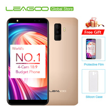 "Leagoo M9 18:9 Tela Cheia Quatro-Cams Android 7.0 MT6580A 5.5 ""Quad Core 16 2 GB RAM GB ROM 8.0MP Fingerprint 3G WCDMA Do Telefone Móvel(China)"