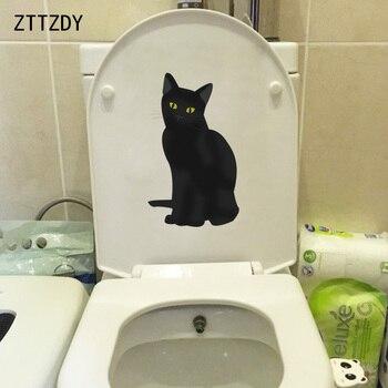 ZTTZDY 12,8*21,6 CM gato Personal Sala dormitorio decoración del hogar pegatina de pared de baño calcomanía T3-0111