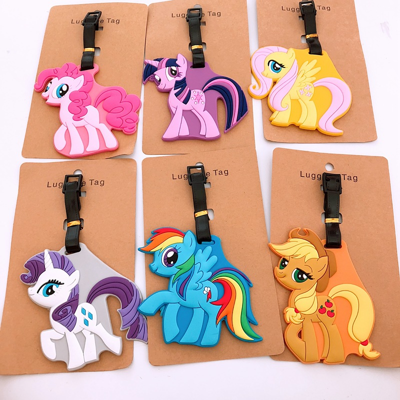 Cute Horse Luggage Tag Travel Accessories Portable Fashion Cartoon TSUM ID Address Baggage Labels Suitcase Boarding Tags
