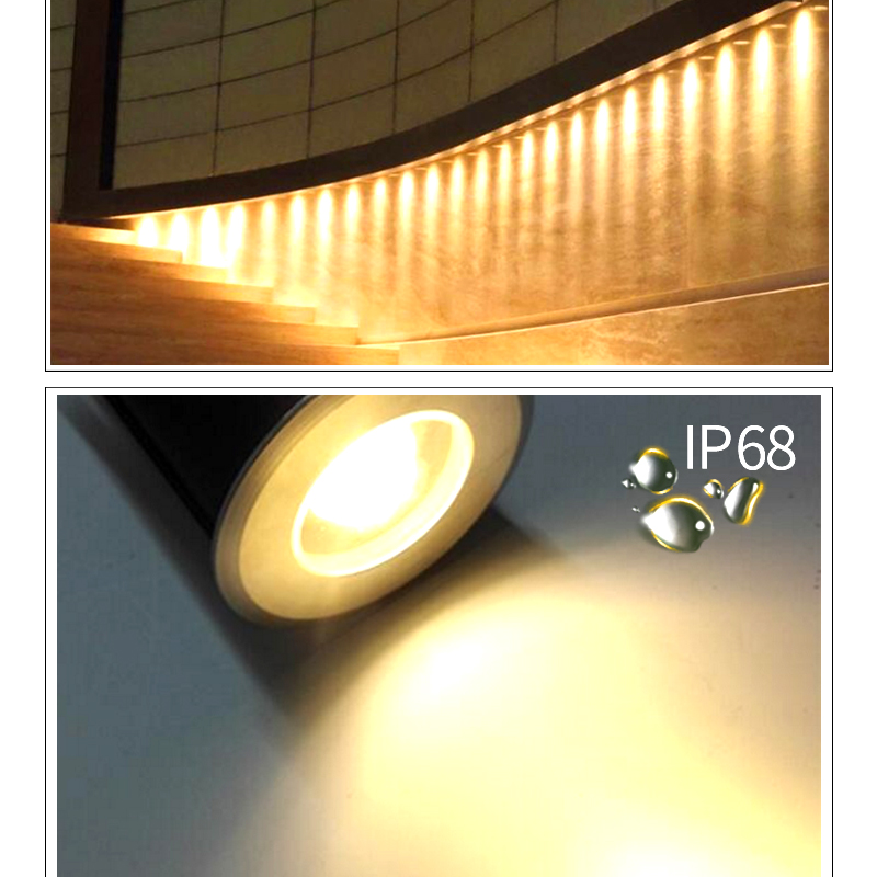LED outdoor underground light IP68 waterproof garden lawn landscape floor lamp stairs aisle embedded mini 12V spotlight RGB in LED Underground Lamps from Lights Lighting