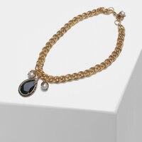 Water drop design pendant vintage pearl necklace