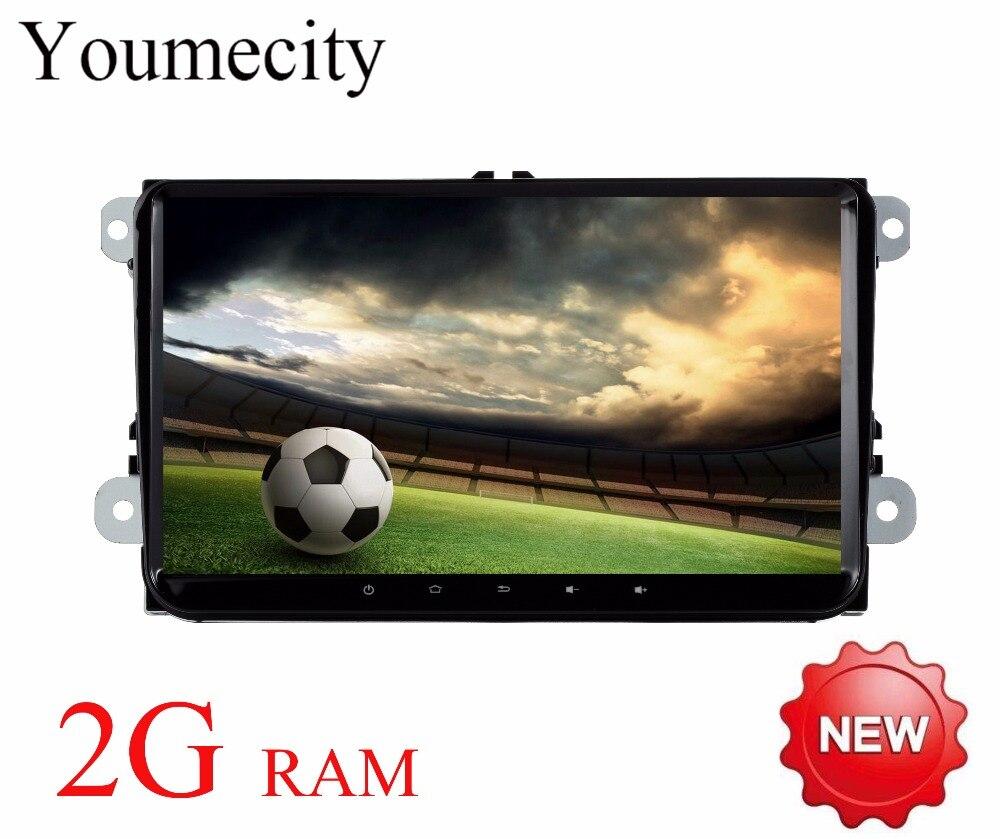 Youmecity 2016 Android 7.1 Автомобильный DVD плеер для VW Tiguan Мужские поло Гольф 5 6 Passat Jetta транспортер T5 CC Конфеты радио WIFI GPS видео