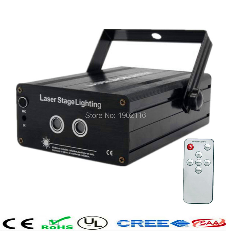 ФОТО HOT Mini RG 2Lens 24 Patterns Remote Laser Projector Effect Stage  LED Light Show For KTV DJ Disco Party Lighting factory price