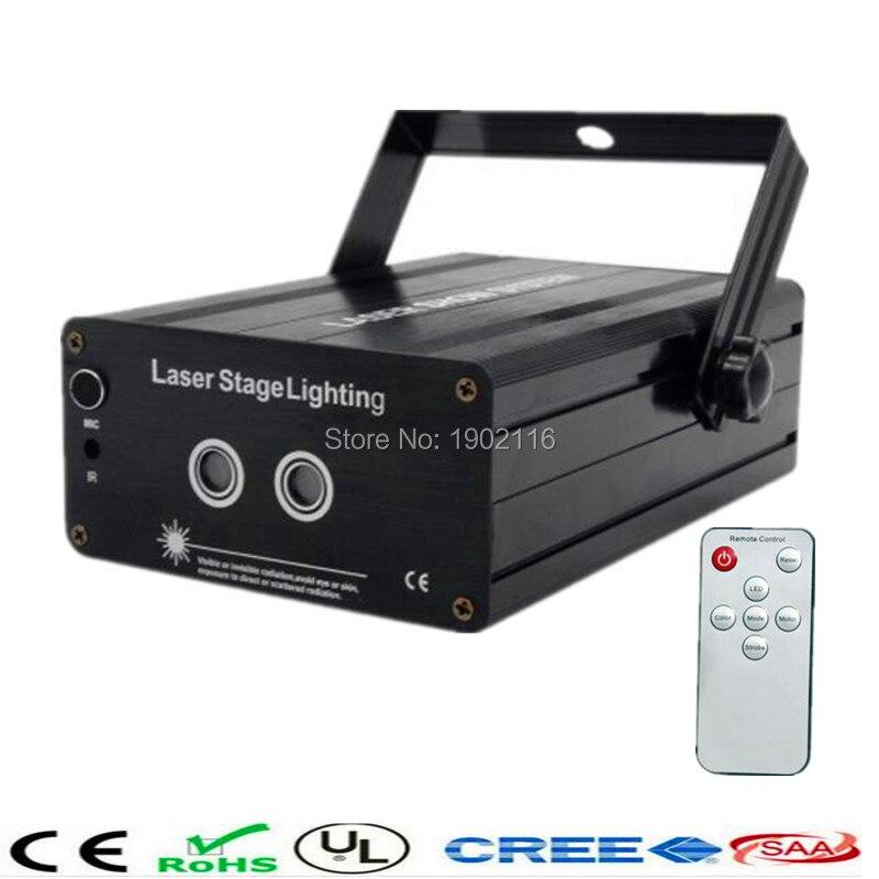 Mini RG 2 Lens 24/48 Patterns Remote Laser Projector Effect Stage LED Light Show For KTV DJ Disco Party Lighting red green laser