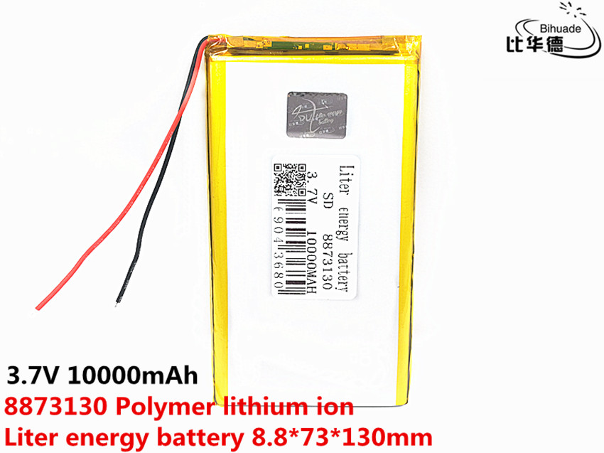 <font><b>3.7V</b></font> lithium polymer <font><b>battery</b></font> 8873130 9075130 power charging treasure <font><b>10000mAh</b></font> Rechargeable Li-ion Cell For Tablet DVD MID PDA image