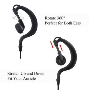 Image 2 - earpiece for Walkie Talkie Earpiece Security Headset Acoustic Tube Earphone Mic PTT Surveillance 1 PIN 2.5mm R40 Two Way Radio