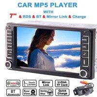 7 Inch Mutli Touch Screen fit for toyota Support GPS Sat Navi Bluetooth Auto Radio FM AM Screem Mirror Steering Wheel Control