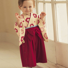 2016 Baby Rompers Kids Japanese Kimono Style Clothes Toddler Rompers Jumpsuit for Newborns Bebes Costumes Long Sleeve Clothing