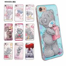 MOUGOL Tatty Teddy Me To You Beardesign transparent clear hard case cover for Apple iPhone 6 6S 6Plus 7 7Plus 5 5s SE 5C