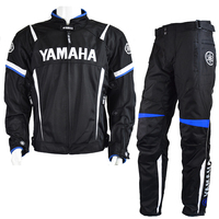 MotoGP 2018 Motorcycle Racing Jackets Pant For Yamaha Team Motorbike Jacket Blue Suit Moto GP Racing Jacket With Protector Pads