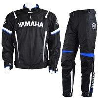 MotoGP 2018 Motorcycle Racing Jackets Pant For Yamaha Team Motorbike Jacket Blue Suit Moto GP Racing Jacket With Protector Pads