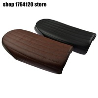 Black/Brown Motorcycle Vertical stripes Hump Cafe Racer Seat For Honda CB125S CB200 SR125 CB350 CL350 CB400