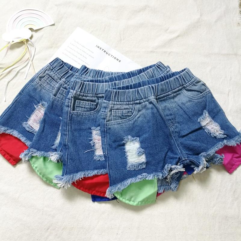 2018 Spodenki dżinsowe dziewczęce wersja letniej odzieży - Ubrania dziecięce - Zdjęcie 4