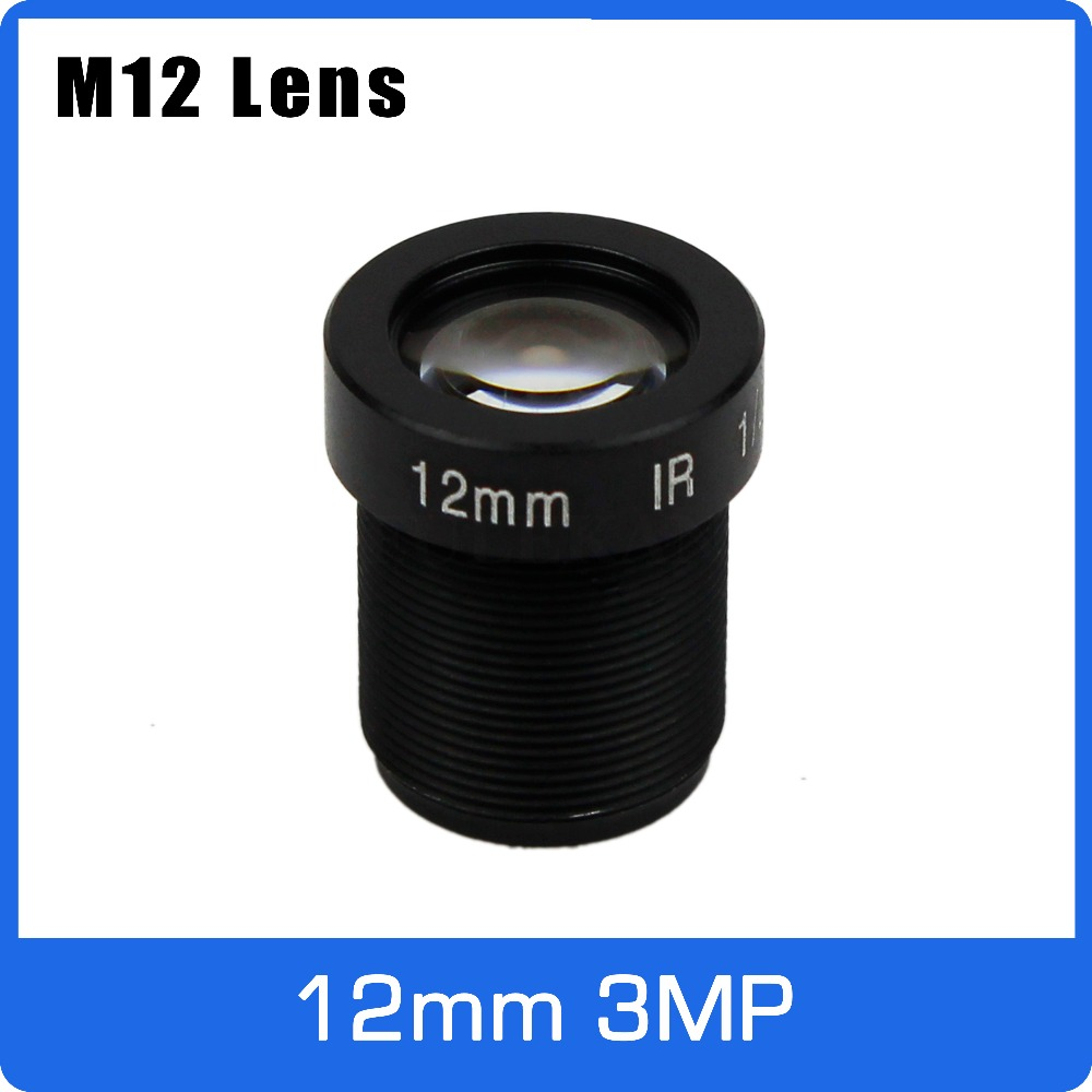 3Megapixel 12mm Fixed 1/2.5 Inch Long Distance View CCTV Lens For HD 1080P IP Camera AHD CCTV Camera Free Shipping