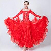 New Modern Dance Costumes Women Ballroom Dance Dresses Standard Salsa Samba Tango Ballroom Competition Dresses