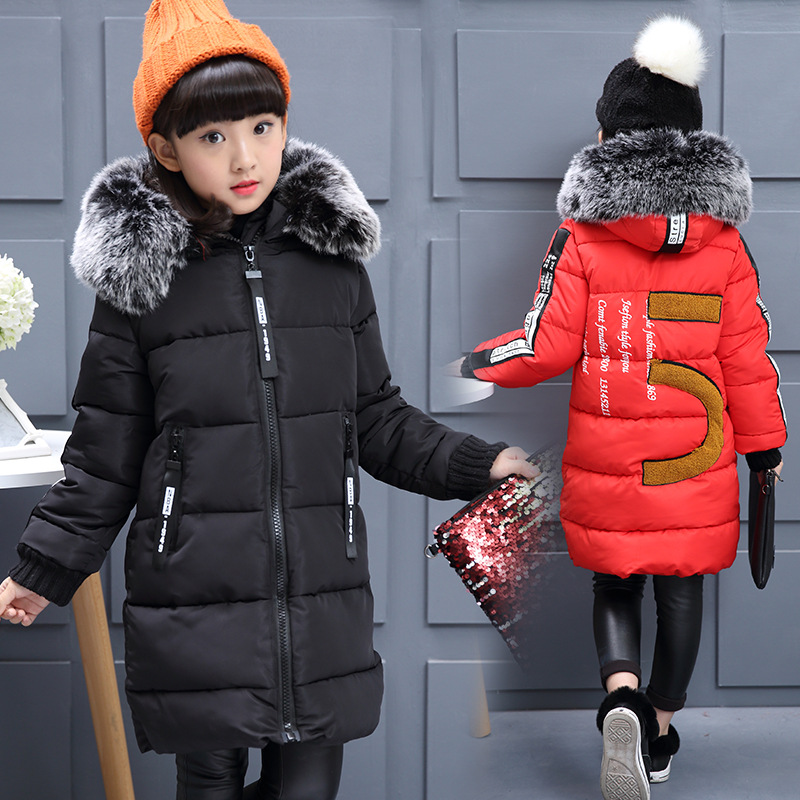 Girls clothes winter kids down jackets outerwear coats down parkas children jackets for girls down coat fur collar girls coats kids winter jackets girls coats with hood waterproof girls coat autumn outerwear windbreaker pink children clothes 11 12years