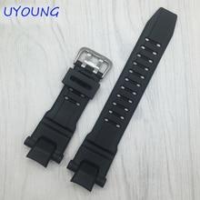 Calidad negro correa de silicona para gw-4000/ga-1000/gw-a1000/gw-a1100/g-1400 de goma correa de reloj casio accesorios