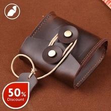 ETONWEAG New 2016 promotion men famous brands casual eraphone organizer bags clutch bag cow leather brown mini vintage purses