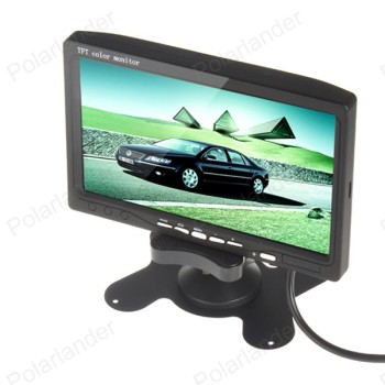 Bestselling 7 Inch Car Rear View Monitor TFT LCD Color Display Screen with 4 led rearviwe camera for car parking