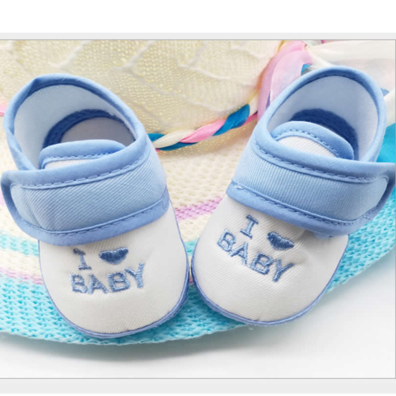 Newborn Baby Infant non-slip I love baby Embroidery Shoes Cute Boys Girls Cotton Soft Warm First Walkers Toddlers Shoes