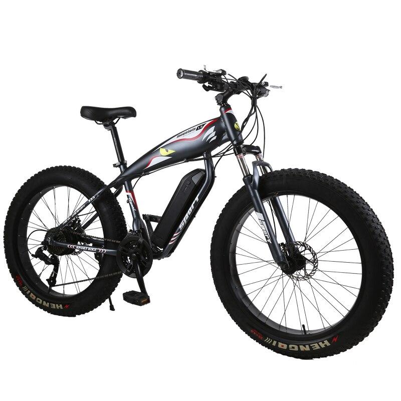 Vtt personnalisé 26 pouces neige électrique vélo plage vélo électrique 48 V 1000 w puissant moteur gros pneus tout-terrain électrique montagne ebike