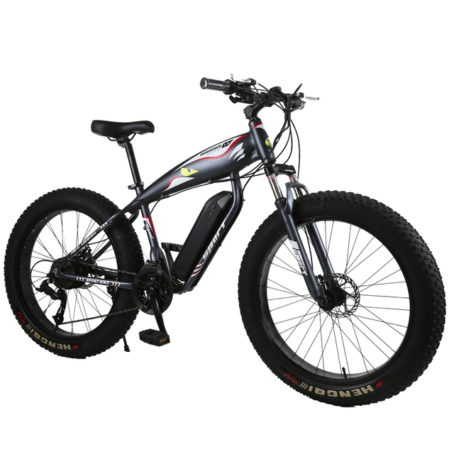 Customize 26inch Electric Snow Bicycle Beach Electric Bike 48v