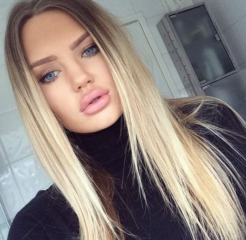 ombre blonde straight hair wigs kanekalon synthetic natural ombre blond lace front wig for women. Black Bedroom Furniture Sets. Home Design Ideas