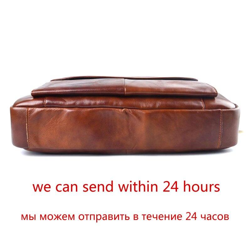 AETOO sac à main en cuir véritable pochette d'ordinateur en cuir de vachette pour hommes sac à bandoulière pour hommes mallette en cuir marron de voyage - 3