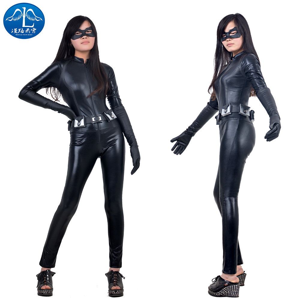 ManLuYunXiao 2017 Cosplay Costume Selina Kyle Way Roleplay Batman The Dark Knight Rises Cat Cosplay Women Jumpsuit Free Shipping