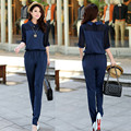 3XL 4XL Big Plus Size Jumpsuits And Rompers For Women Casual Full Length Elegant Chiffon Jumpsuit 2017 Summer Loose One Piece
