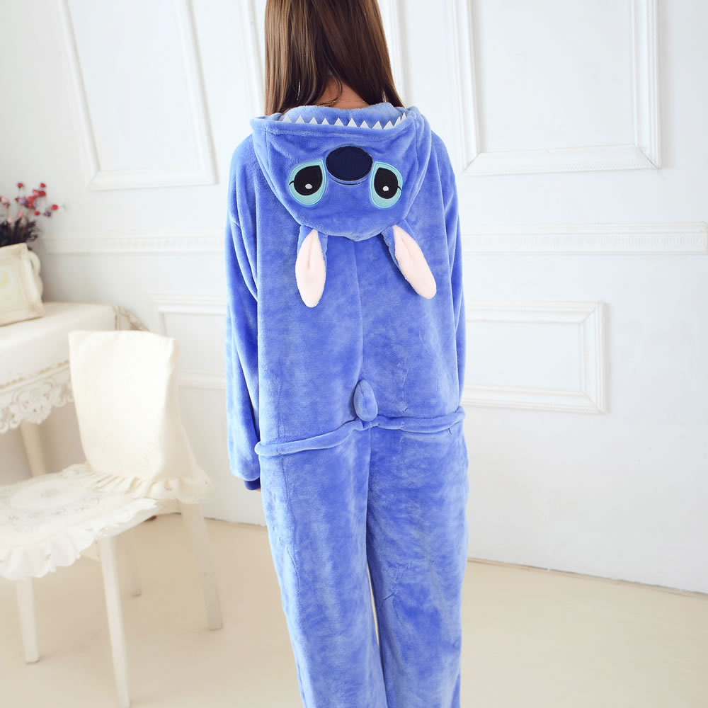 a7c70308b0 Pijama de punto azul enterizo disfraz de Cosplay
