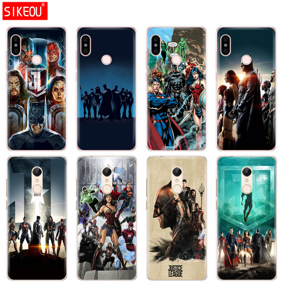 Silicone  Cover phone  Case for Xiaomi redmi 5 4 1 1s 2 3 3s pro PLUS redmi note 4 4X 4A 5A DC Comics Justice Leagu