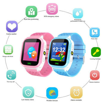 Anti-lost Smart Watch GPS Tracker SOS Call GSM SIM Xmas Gifts For Child Kids