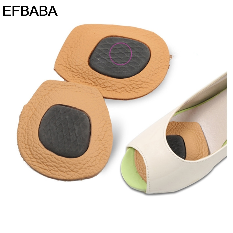 EFBABA Anti Slip High Heel Insole Women Shoe Pad Foot Pain Relief Accessoire Chaussure Shoes Inserts Leather Insole Forefoot Pad